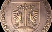 """Medal: Tytułu Honorowego """"Zasłużony dla Powiatu Myślenickiego"""""""