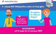 Grafika dotycząca Budżetu Obywatelskiego Małopolska 2021