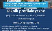 Plakat promujący piknik profilaktyczny